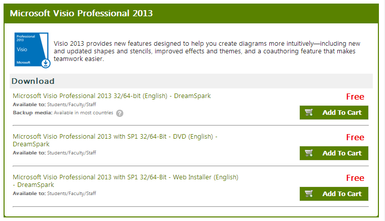 download visio professional 2013 with sp1 32/64-bit